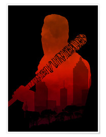 Premium poster  The Walking Dead - Negan and his beautiful Lucille - Alternative fan art - HDMI2K