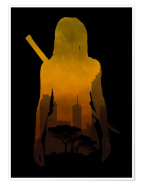 Premium poster  The Walking Dead - Michonne - Alternative fanart - HDMI2K