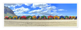 Premium poster  Colorful beach houses in Muizenberg - HADYPHOTO