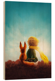 Wood print  The Little Prince - Elena Schweitzer