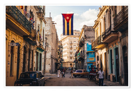 Premium poster  A Cuban flag with holes - Julian Peters