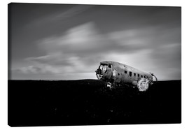 Canvas print  Airplane wreck on Iceland - Muharrem Ünal
