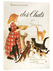 Acrylic print  Des Chats (French) - Théophile-Alexandre Steinlen