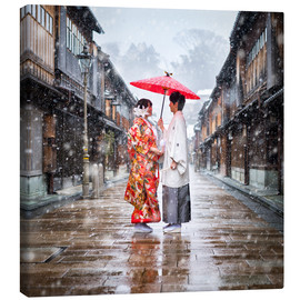 Canvas print  Japanese wedding parade in winter in Kanagawa, Japan - Jan Christopher Becke