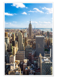 Premium poster Manhattan skyline in New York City, USA