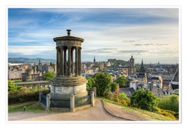 Premium poster Edinburgh view from Calton Hill