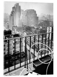 Acrylic print  New York: View from penthouse, 56 Seventh Avenue, Manhattan - Christian Müringer