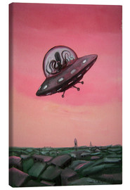 Canvas print  Visit from space - Diego Manuel Rodriguez