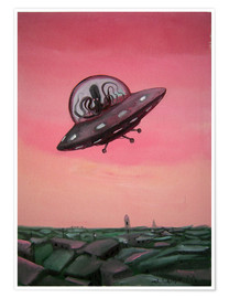 Premium poster  Visit from space - Diego Manuel Rodriguez