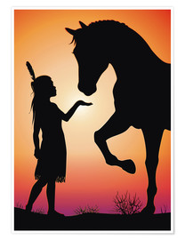 Premium poster  Horse whisperer - Kidz Collection