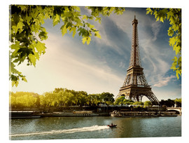 Acrylic print  Eiffel tower on the river Seine, France