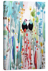 Canvas print  The beautiful vertical story - Sylvie Demers