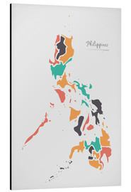 Aluminium print  Philippines map modern abstract with round shapes - Ingo Menhard