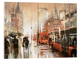 Acrylic print  Oxford Street in the rain - Johnny Morant