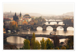 Premium poster  The bridges of Prague - Dennis Fischer