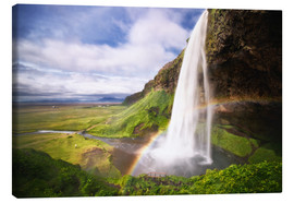 Canvas print  Waterfall with rainbow - Dennis Fischer