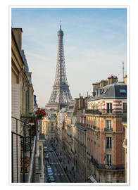 Premium poster View over the rooftops of Paris, France