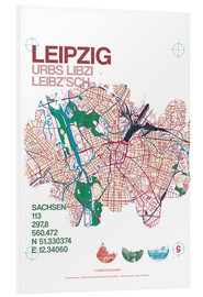 Foam board print  Leipzig map city motive - campus graphics