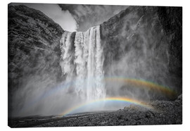 Canvas print  ICELAND Skogafoss with a double rainbow - Melanie Viola