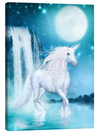 Canvas print  Unicorn - Waterfalls and Moon - Dolphins DreamDesign