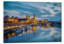 Acrylic print  Old Town Dresden at night - Sabine Wagner