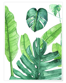 Premium poster  Tropical leaves - Rongrong DeVoe