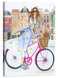 Canvas print  Bike tour on the canal - Rongrong DeVoe