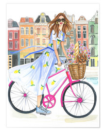Premium poster  Bike tour on the canal - Rongrong DeVoe