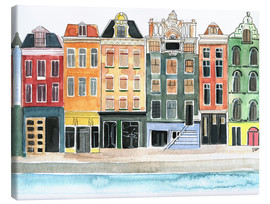 Canvas print  Amsterdam watercolor - Rongrong DeVoe