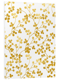Foam board print  Golden vines - Uma 83 Oranges