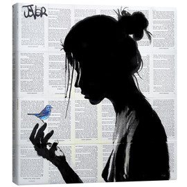 Canvas print  This has told me a little bird - Loui Jover
