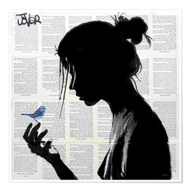 Premium poster  This has told me a little bird - Loui Jover