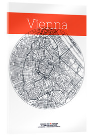 Acrylic print  Vienna Map County - campus graphics