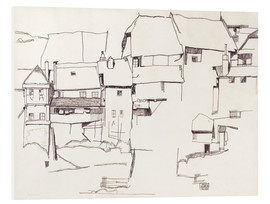 Foam board print  Old houses in Krumau - Egon Schiele