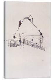 Canvas print  Residential house with fence - Egon Schiele