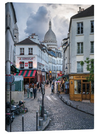 Canvas print  Streets of Montmartre and Sacre Coeur - Jan Christopher Becke