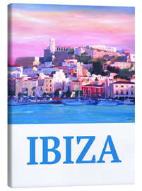 Canvas print  Retro Poster Ibiza Old Town and Harbour Pearl Of the Mediterranean - M. Bleichner