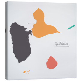 Canvas print  Guadeloupe map modern abstract with round shapes - Ingo Menhard