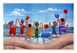 Premium poster  Beach party rainbow scene - Peter Adderley