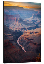 Aluminium print  Amazing Sunrise at the Grand Canyon