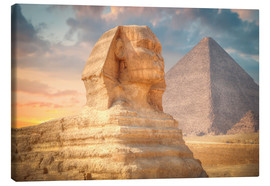 Canvas print  Sphinx and pyramid