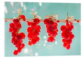 Acrylic print  Red currants full - K&L Food Style