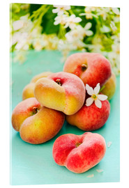 Acrylic print  Summer peaches - K&L Food Style