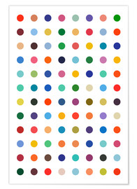 Premium poster  Damien Tribute - Colourful polkadots - THE USUAL DESIGNERS