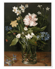 Premium poster Still Life with Flowers in a Glass Vase