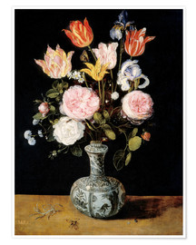 Premium poster Flowers in a Chinese Vase