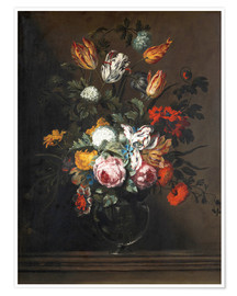 Premium poster Bouquet of flowers in a Venetian glass vase