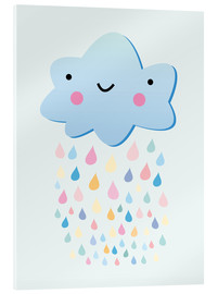 Acrylic print  Happy little cloud - Kidz Collection