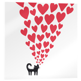 Acrylic print  cat heart - Kidz Collection