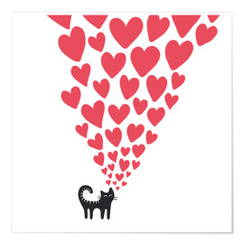 Premium poster  cat heart - Kidz Collection